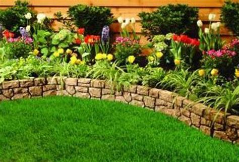 Ideas For Garden Edging Borders Garden Edging For Flower Beds Ideas