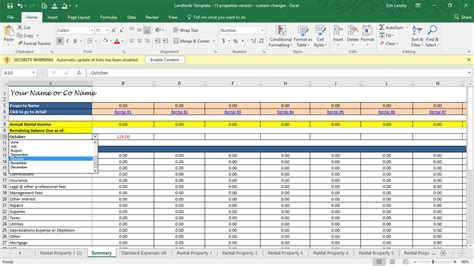 property management budget template rent calculator landlord template rental property profit