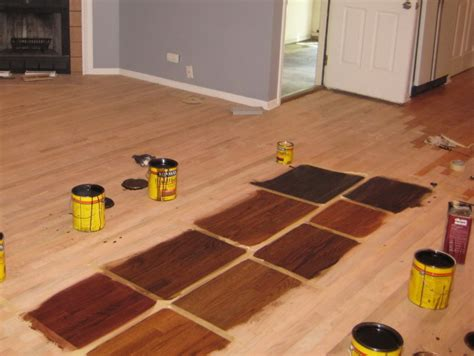 can you stain hardwood floors without sanding based finishes