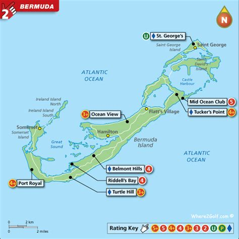 bermuda island map bermuda golf map with top golf courses and resorts