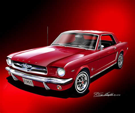 ford mustang prints 1965 1966 mustang prints posters by danny