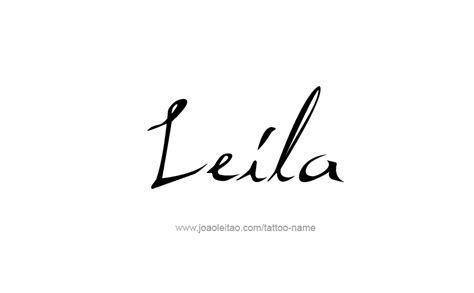 leila name tattoo designs