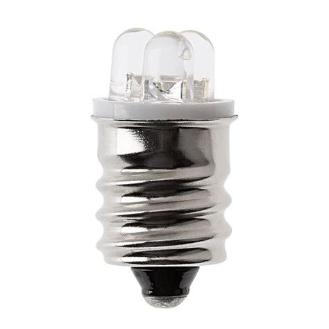 Led E12 Light Bulb E12 Led Bulb 3 Led Cool White 18 Lumens Rv Edison Base Bulbs Bright Leds