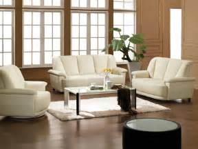 Living Room Chair Set Bonded Leather 3 Living Room Set 2828 White