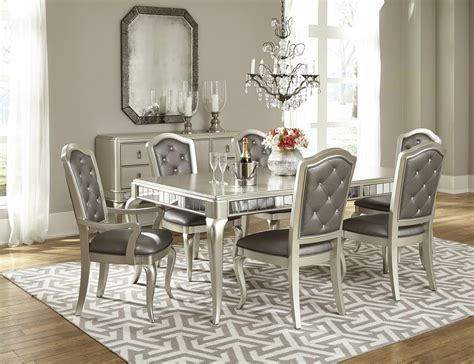 dining room set dining room set in platinum bling by samuel