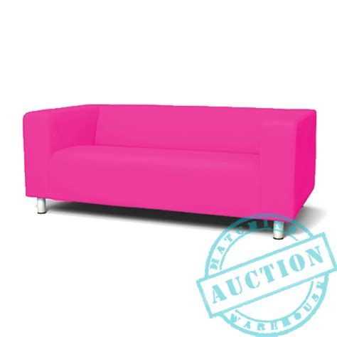 ikea pink sofa cerise pink new custom cover slipcover to fit ikea klippan