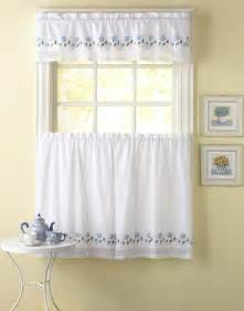 Kitchen Valances Curtains Leighton Crochet Trim Kitchen Curtains Curtainworks