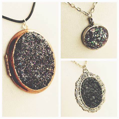 how to make druzy jewelry faux druzy pendant 183 how to make a pendant necklace