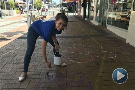 chalk paint tauranga sunlive chalk garden springs up in square the bay