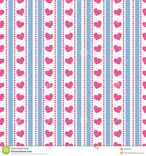 pattern seamless stripes striped pattern with hearts vector seamless background