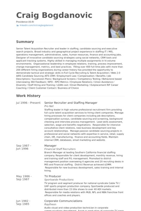 Staffing Agency Recruiter Sle Resume by Staffing Manager Resume The Best Letter Sle
