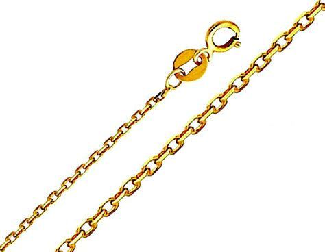 14k 6mm solid polished cable chain cable chains 14k yellow gold 6mm solid diamond cut cable chain 14 quot 16