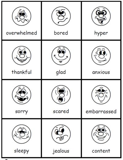 printable emotion faces card common worksheets 187 emotions printables preschool and