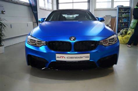 Newsletter Design Matt Blau Vorlagen Blau Chrom Matt Folierung 2m Designs Am Bmw M4 F82 Tuningblog Eu Magazin
