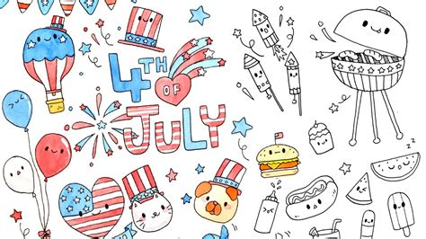 doodle www ideas kawaii 4th of july doodles doodle ideas