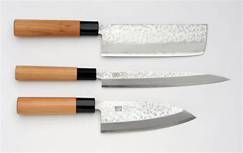 kuromori 3 piece kitchen knife set nakiri yanagi deba unsui japanese traditional 3 piece knife set nakiri