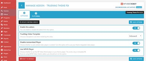 inurl wp content themes store upload true mag theme fix wp video robot add ons store