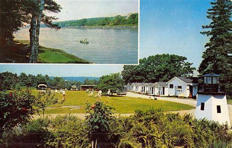 acres motel cottages pemaquid maine sea acres cottage motel multiview vintage postcard k52499 l martin ltd