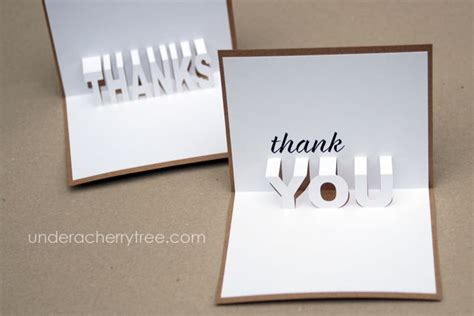 Free Downloads Jin S Pop Up Thank You Cards Under A Cherry Tree Bloglovin Thank You Pop Up Card Template