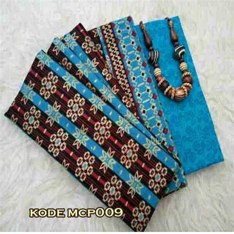 Kain Prada Wajik Dan Embos kain batik embos warna biru motif termurah batik embos
