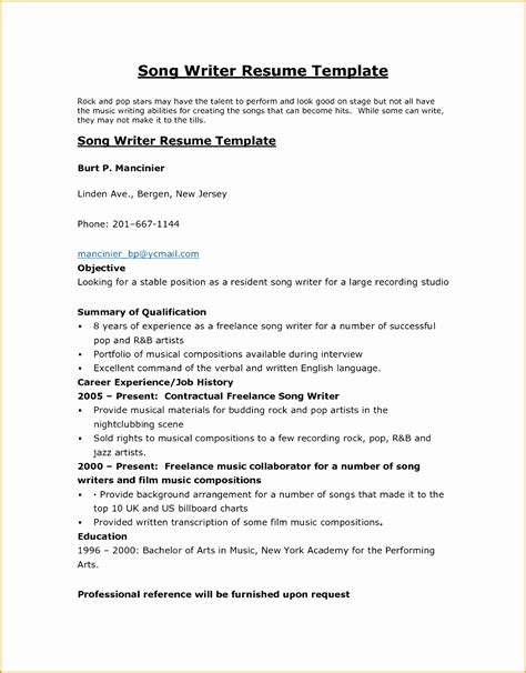 Resume Writing Template by 4 Writing Resume Objective Summary Free Sles