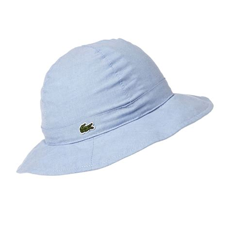 lacoste chambray reversible hat multicolour