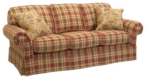 red plaid sofa broyhill broyhill erikson sofa crimson eclectic sofas by