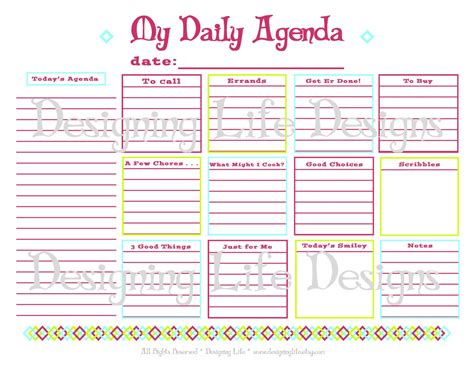 printable daily planner vertex daily agenda printable daily planner page pdf to do list