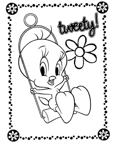 pics photos coloring pages tweety bird printable