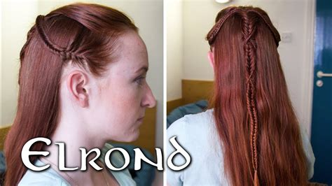 lord   rings hair  men elrond prologue braid youtube