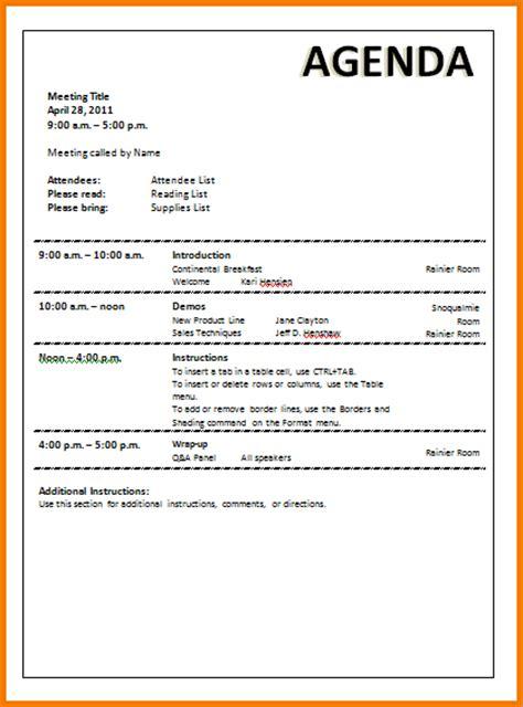 meeting agenda templates authorization letter