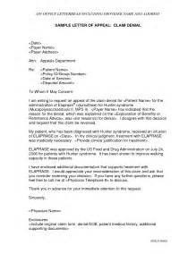 How To Write A Appeal Letter For Unemployment by Sle Insurance Appeal Letter For No Authorization Best Business Template