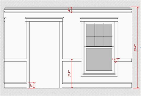 standard baseboard height interior trim scale proportion time to build