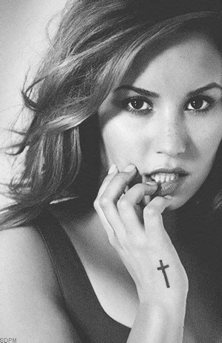 demi lovato cross tattoo wrist cross crosses