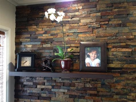 interior rock wall interior ledger wall application rustic los angeles by sjs construction associates