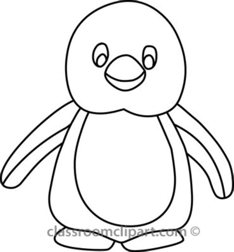 Penguin Clipart Outline by Penguin B Outline Free Images At Clker Vector Clip