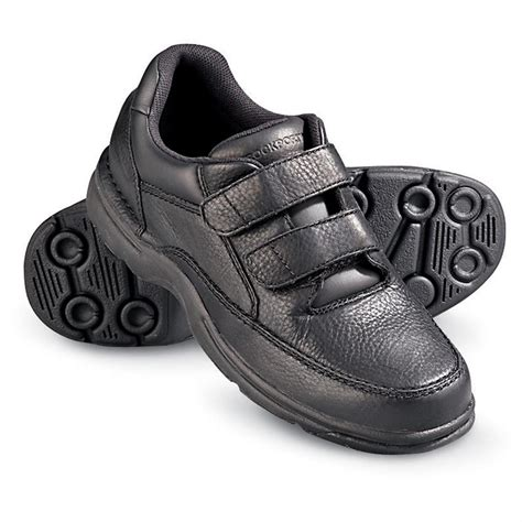s rockport 174 ellery velcro 174 walking shoes black