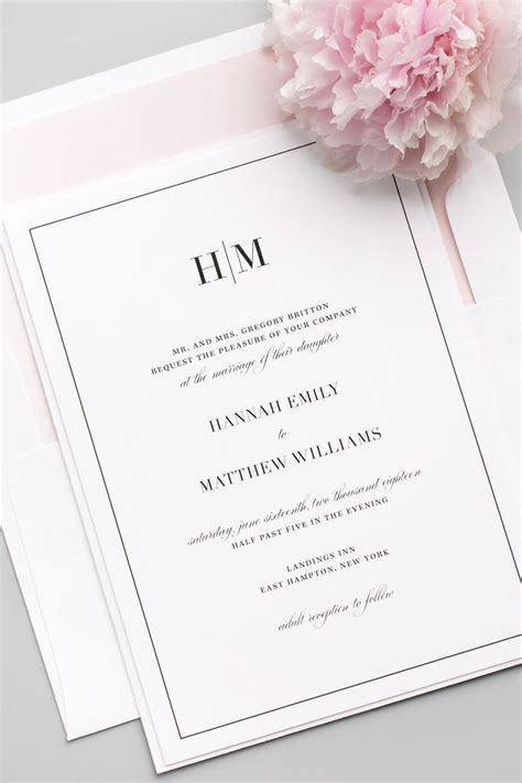 Glam Monogram Wedding Invitations in 2019   Member Board
