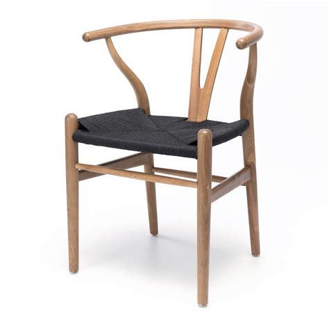 wishbone dining chair oak  black seat furniture  design fbd