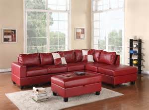 Sectional With Ottoman G309 Sectional Sofa In Bonded Leather By W Ottoman