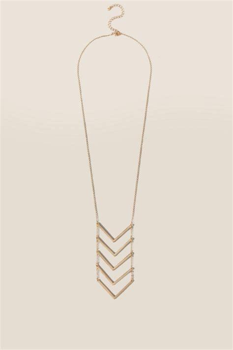 lindley 5 chevron pendant necklace s