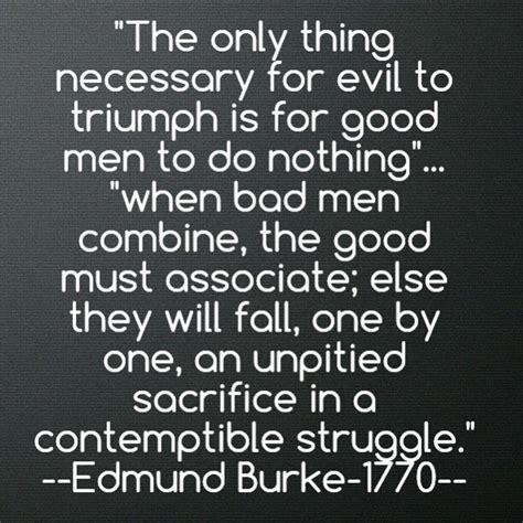 evil  triumph  fo picture quote  edmund burke