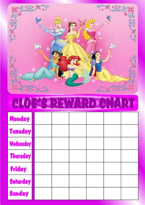 Printable Reward Charts Disney | disney princess reward chart car interior design