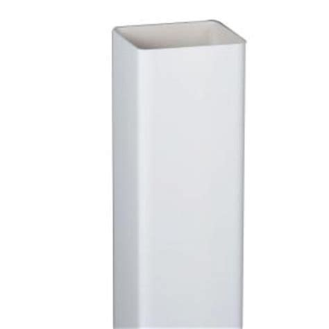 amerimax home products 2 in white square vinyl downspout