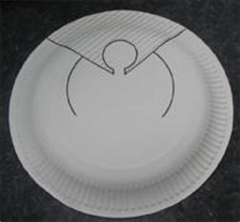 pattern for paper plate angel 15 best photos of paper plate angel craft pattern paper