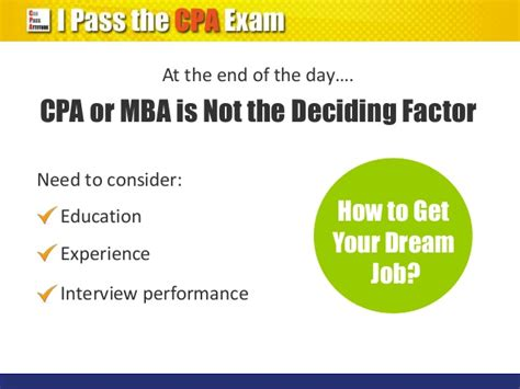 Does Internship Count As Work Experience For Mba by Cpa Qualification Vs Mba Degree Which Is Better