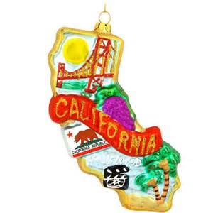 california glass ornament usa theme christmas