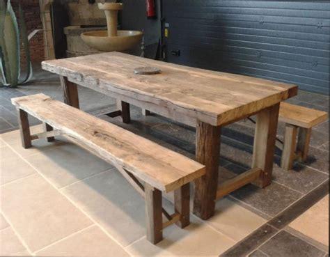 Table Bois : ensemble table et banc de jardin en bois