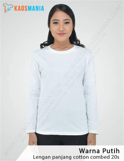 Size Pilihan Warna Lengan Panjang kaos tangan panjang bahan cotton combat 20s