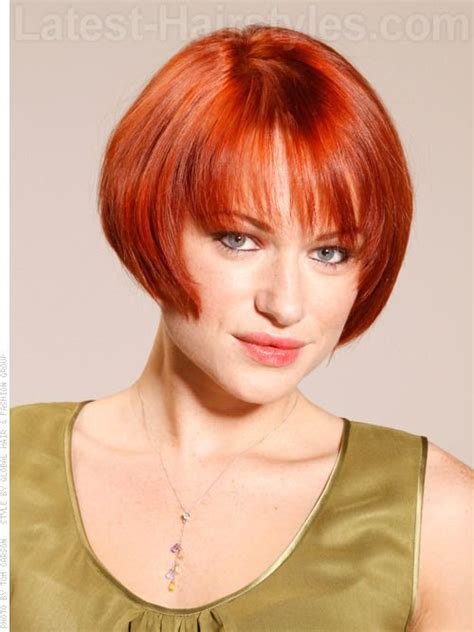 cougar hair styles copper cougar red soft short shiny bob front view pin it